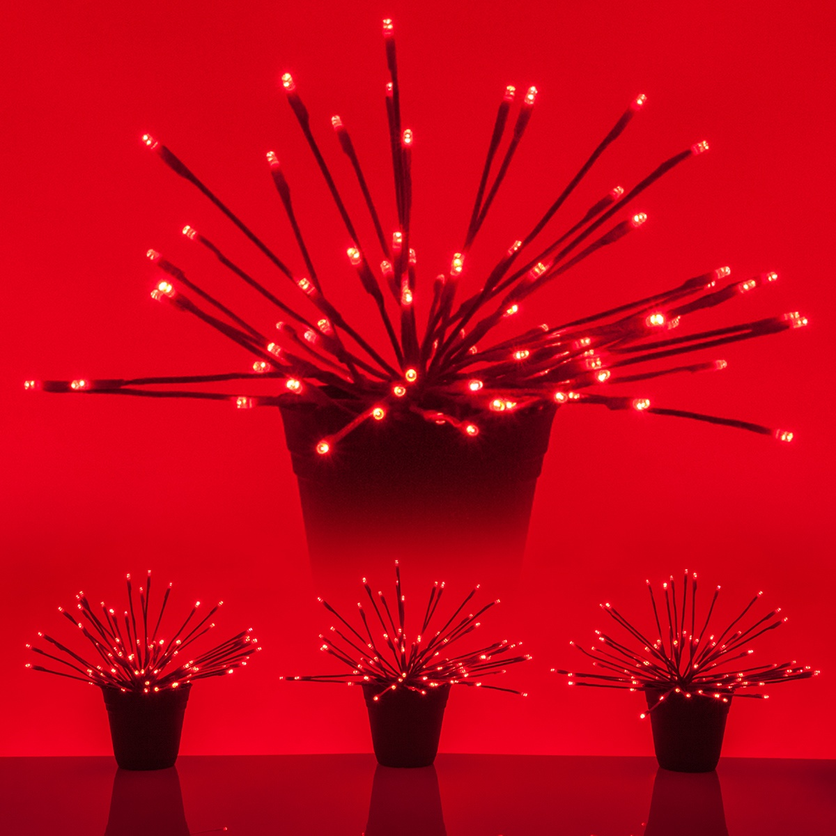 Red Starburst Led Lighted Branches Red Twinkle Lights 3