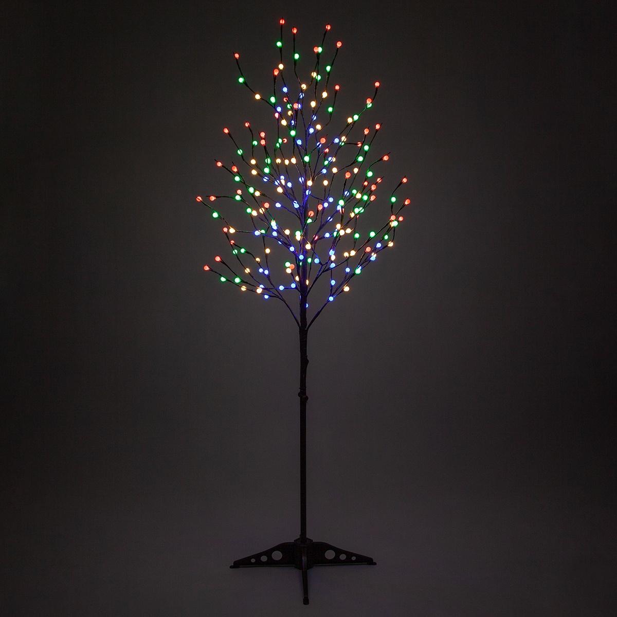 6 Brown Decorative Tree Multicolor Led Mini Globe Lights