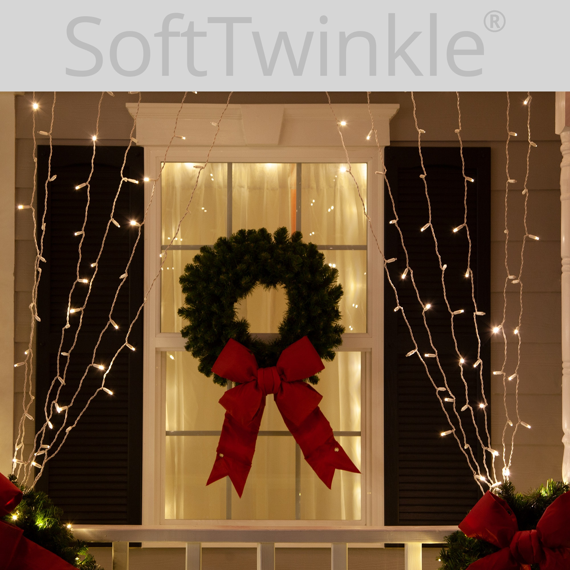 how to decorate with icicle lights.htm softtwinkle tm led curtain lights  66  drops  warm white 5mm  softtwinkle tm led curtain lights  66