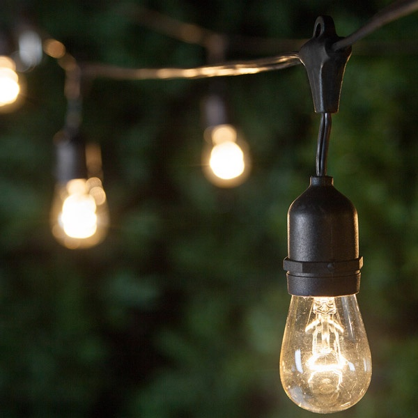 Commercial patio string lights yard envy aloadofball