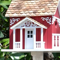 Welcome backyard birds with colorful bird houses