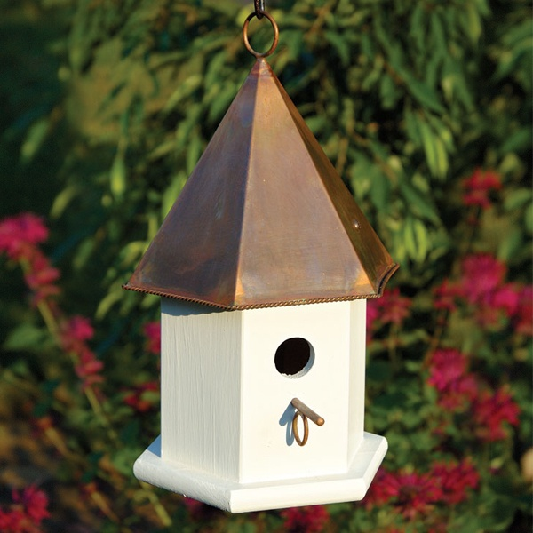 copper top bird houses copper roof tops are durable and weather to a ...