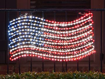 USA Flag Lights & Patriotic Decor