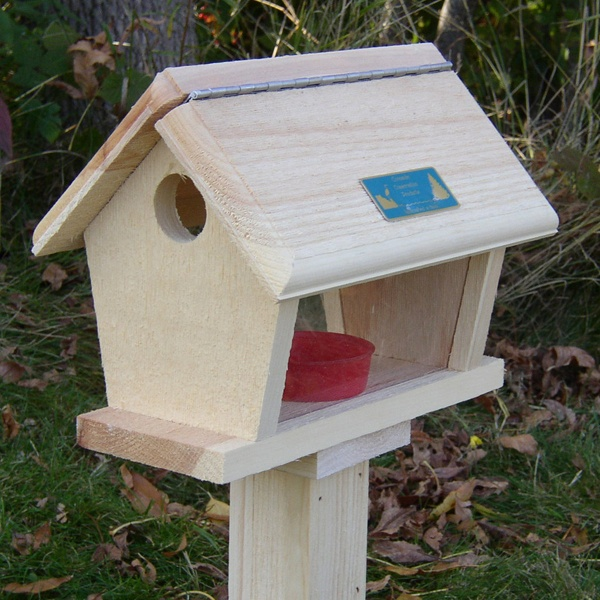 Wooden bird feeders yard envy for How to make a wooden bird feeder