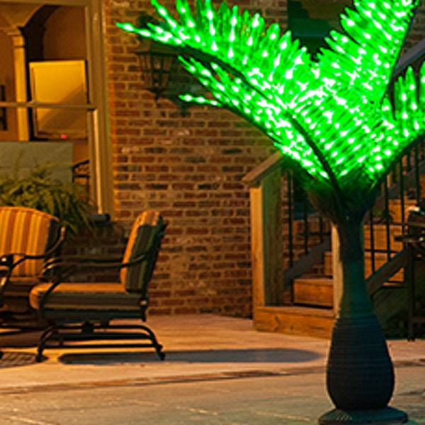 lighted palm trees decor yard envy - Palm Tree Decor
