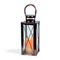Copper Outdoor Candle Lantern