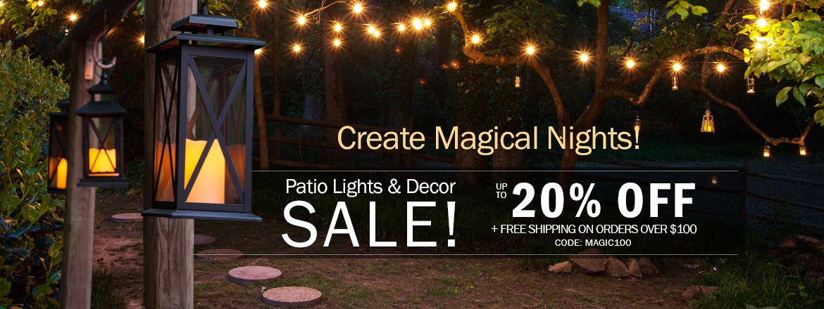 Patio Lights & Decor Sale! Save up to 20% Off + Free Shipping*