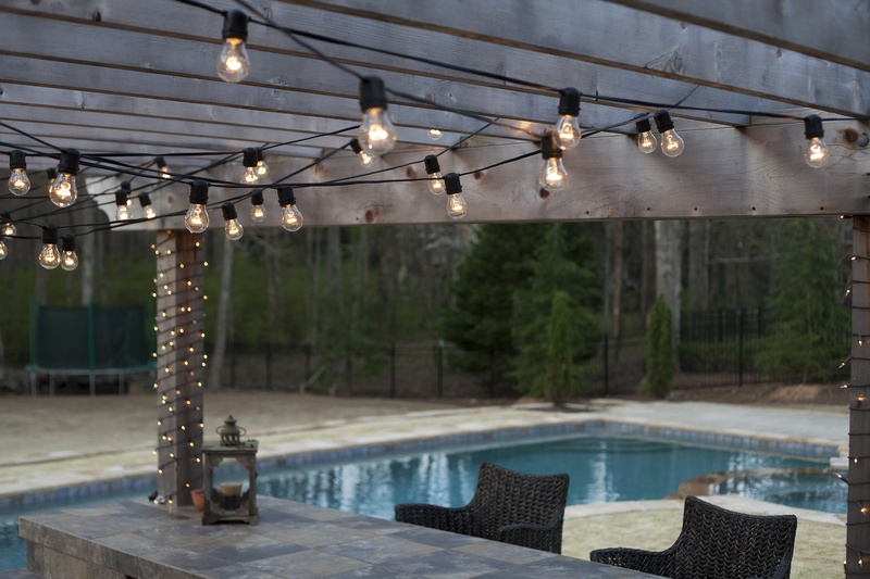 Ideas For Hanging String Lights Outdoors : Deck Lighting Ideas with Brilliant Results! - Yard Envy