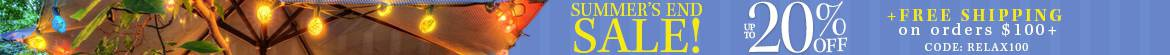 Summer's End Sale! Save up to 20% Off + Free Shipping*