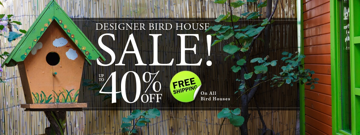 Free Shipping on all Bird Houses!