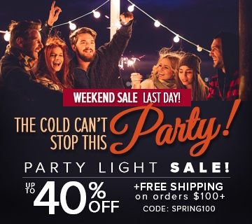 Patio and Party Light Sale!