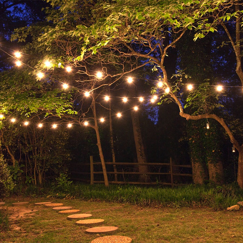 How to hang patio lights yard envy aloadofball Gallery