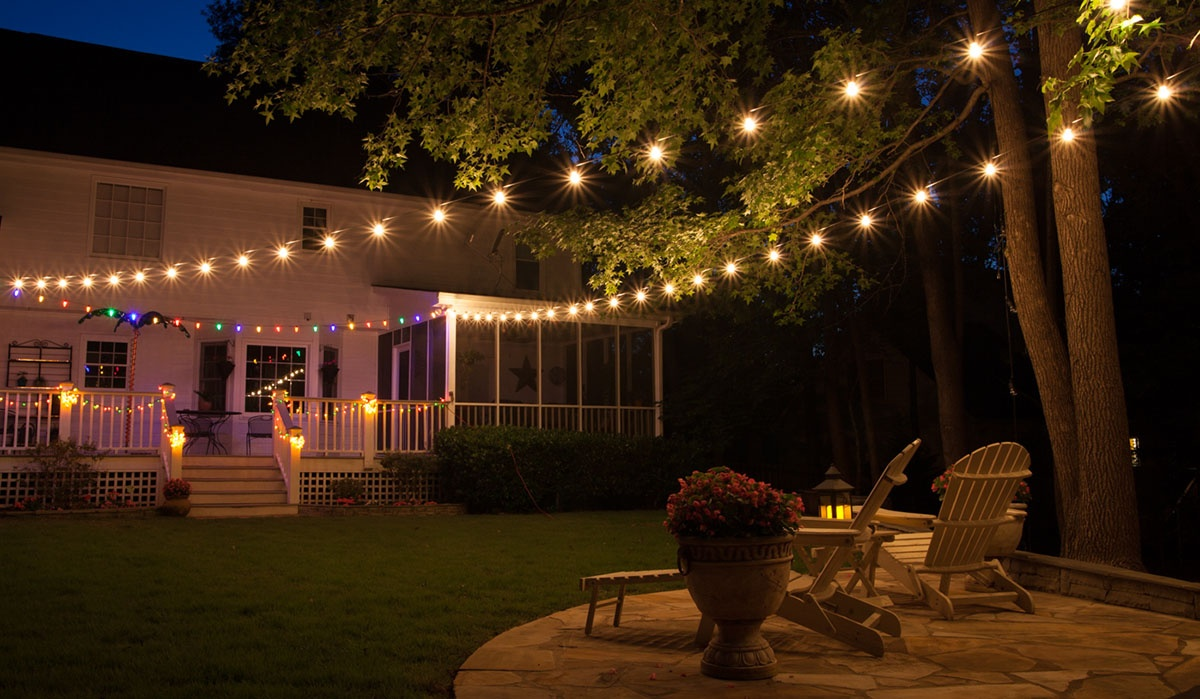 Patio lights yard envy Patio and deck lighting ideas